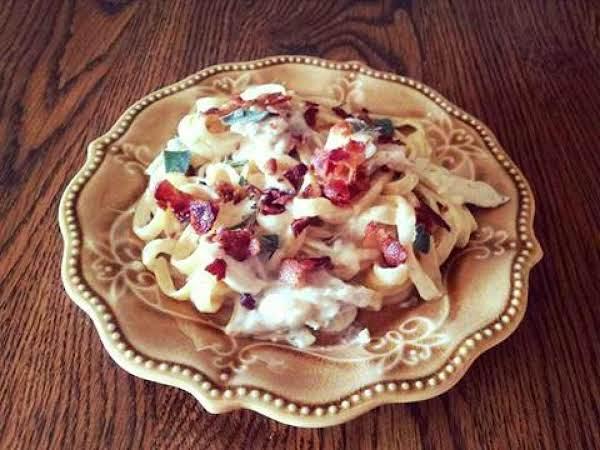 Garlic Bacon And Chicken Linguine