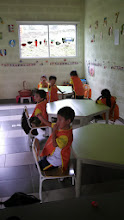 Photo: Day 7: This is inside one of the classrooms where we taught our lesson plan that day.