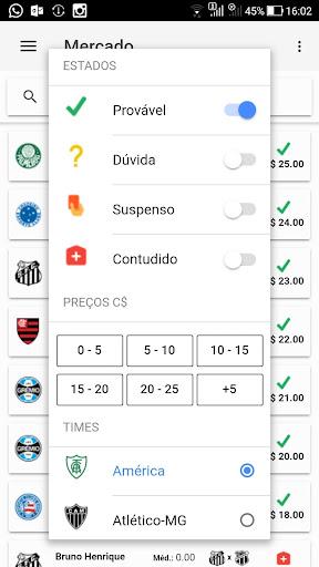 Foto do Campeões Cartola FC - Parciais