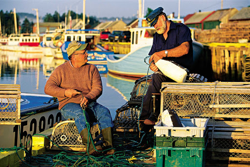 Fishermen in Rustico on the north side of Prince Edward Island, Canada.