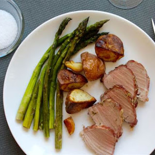One-Pot Rosemary Roast Pork with Asparagus and Potatoes