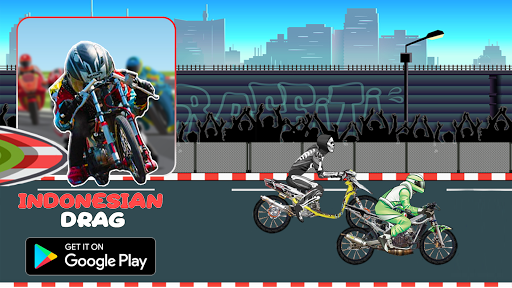 Indonesian Drag Bike : Street Racing apktram screenshots 3