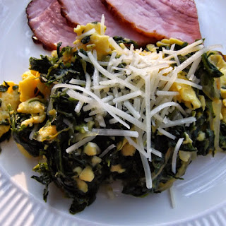Sauted Spinach with Eggs.