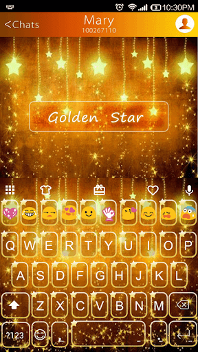 Golden Star Emoji Keyboard