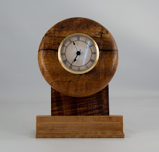 "Photo: Richard Webster - 6"" x 9"" clock [spalted mango, ,maple]"