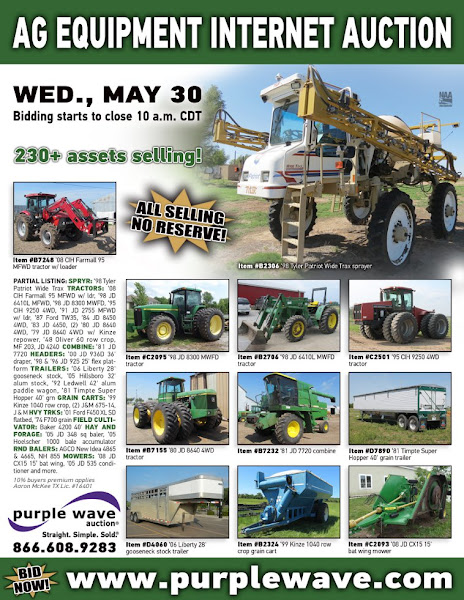 Photo: Ag Equipment Auction May 30, 2012 http://purplewave.co/120530