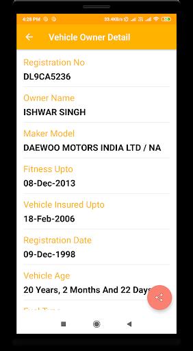 vehicle information screenshot 3