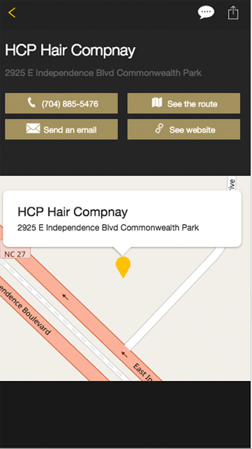 HCP Hair Company- screenshot