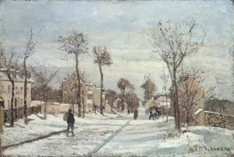 """Photo: Camille Pisarro, """"La strada innevata"""" (1872)"""