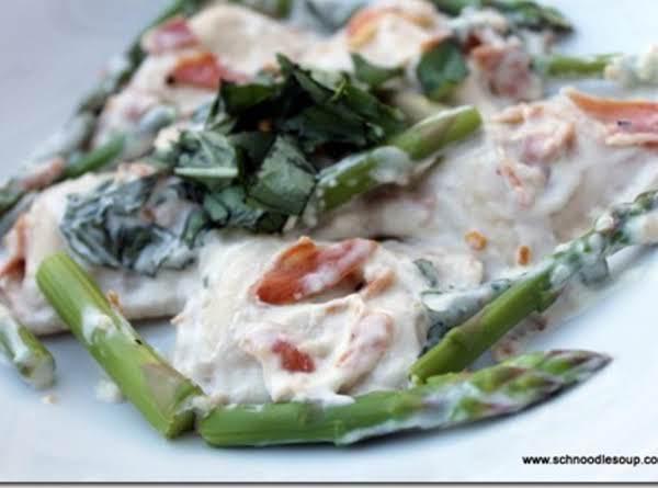 Ravioli, Pancetta & Asparagus In Basil Cream Sauce