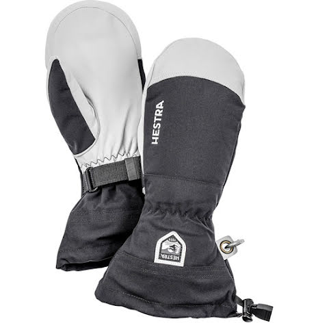 Army Leather Heli Ski Svart Mitt