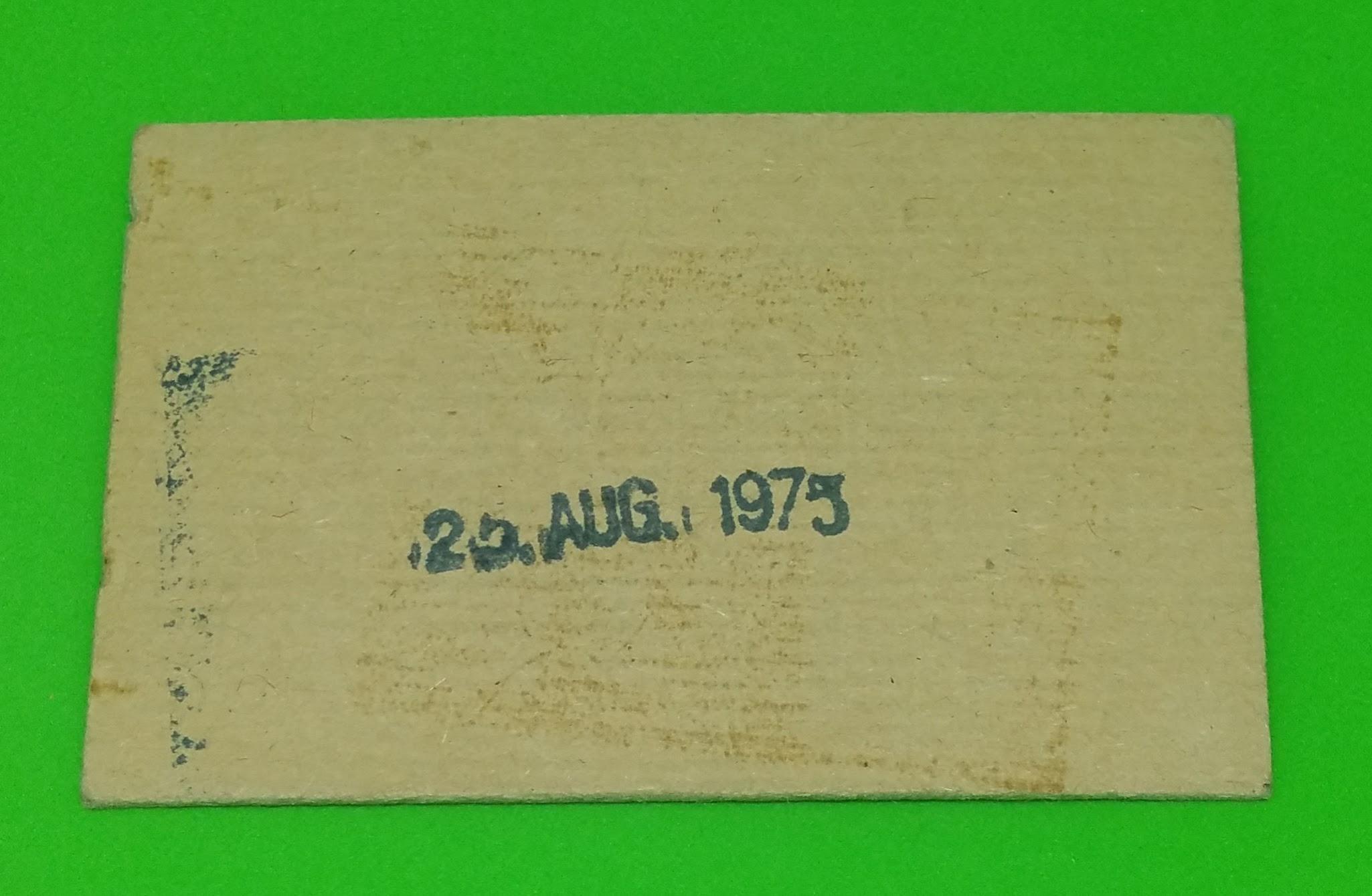 Arbeiterwochenkarte DDR 1975