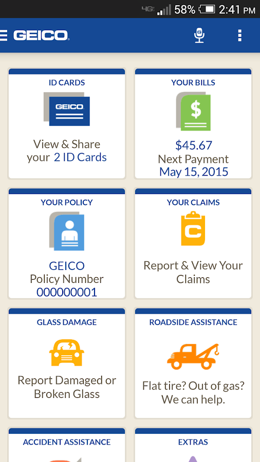 GEICO Mobile - screenshot