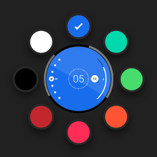 Radii Watch Face for Android Wear OS Screenshot