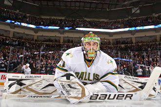 Photo: WINNIPEG, CANADA - MARCH 14: Goaltender Richard Bachman #31 of the Dallas Stars stretches in the crease prior to the opening faceoff in NHL action against the Winnipeg Jets at the MTS Centre on March 14, 2012 in Winnipeg, Manitoba, Canada. (Photo by Jonathan Kozub/NHLI via Getty Images)