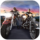 Outlaw Biker Attack: Fury Road Racing Wars
