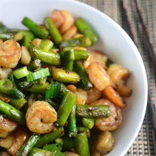 Shrimp and Asparagus Stir Fry