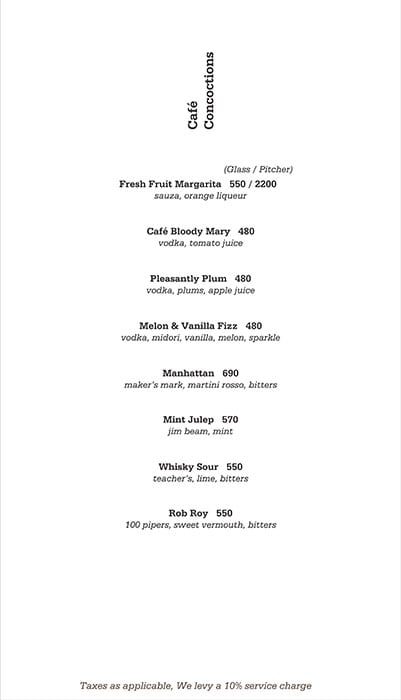 Salt Water Cafe menu 6