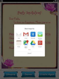 Party invitation card designer android apps on google play party invitation card designer screenshot thumbnail stopboris Choice Image