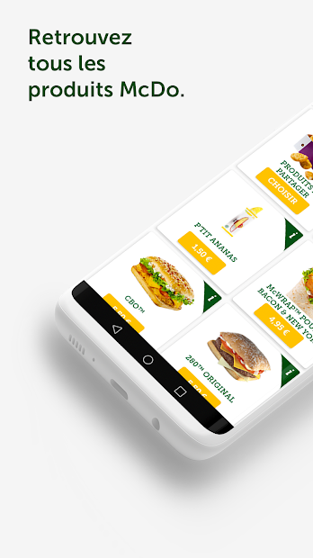McDo+ Android App Screenshot