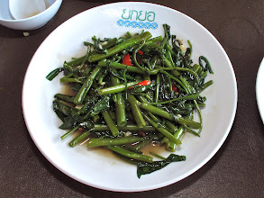 Photo: stir-fried morning glory with chillies