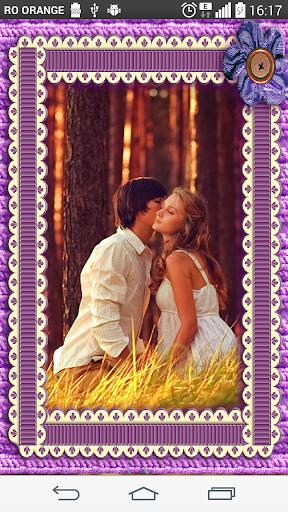 Purple wool Photo Frames