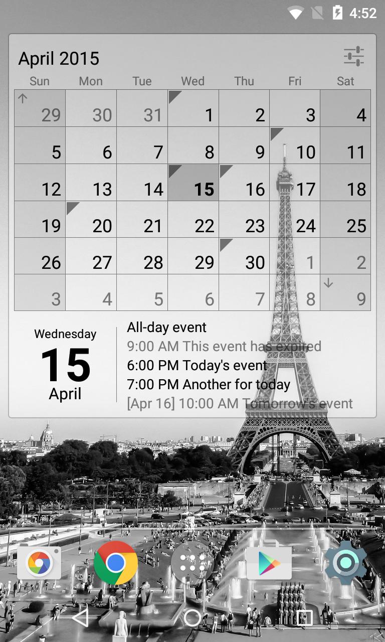 Calendar Widget Month + Agenda Screenshot 3