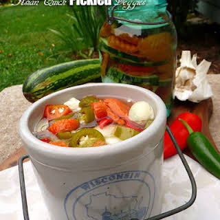 Asian Quick Pickled Veggies.