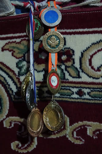 Medals won at horse racing and eagle hunting events