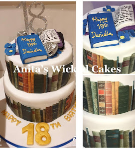 Book themed 18th birthday cake