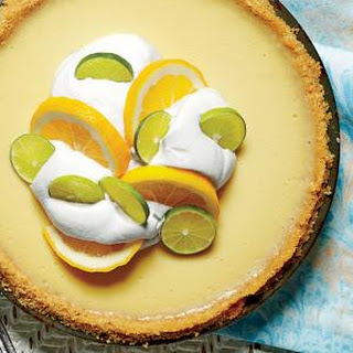 Key Lime-Buttermilk Icebox Pie with Baked Buttery Cracker Crust.