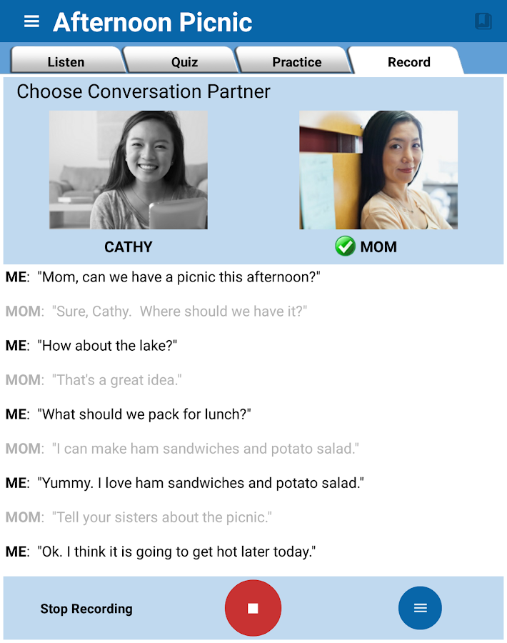 English Conversation Practice- screenshot