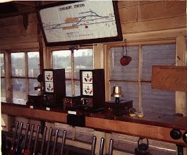 Photo: Signal box diagram and block instruments (1969)