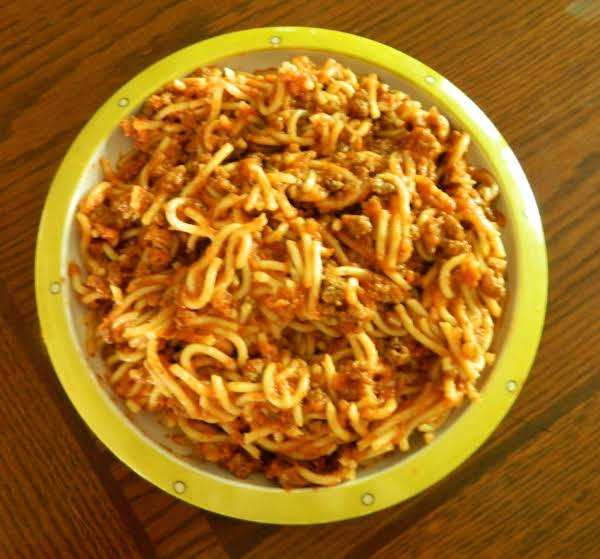 My Latest Batch Of Skillet Spaghetti! Should Have Doubled The Recipe!