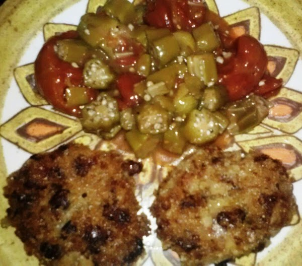 Optionally serve with http://www.justapinch.com/recipes/soup/vegetable-soup/cajun-gumbod-okra.htmlThe sweetness of the croquettes complements the spiciness of the okra.Enjoy!
