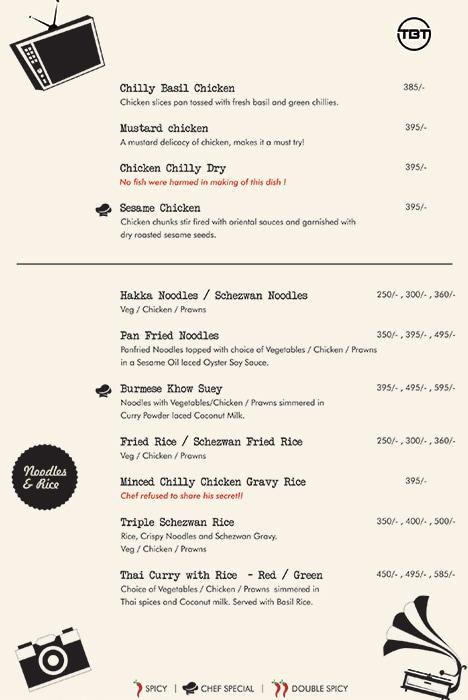 The Bar Tales menu 4