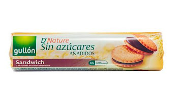 Galletas Gullón Sándwich   Sin Azucares Añadidos Paquete X250G.