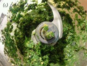 Photo: Grateful for my machine making pesto.