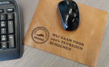 School en kantoor - Deze persoonlijke leren muismat is een duurzame eyecatcher op elk bureau!
