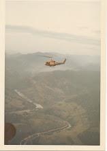 Photo: A Battery 1/77 evacuation from LZ Peanuts May 6, 1968.