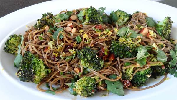 Cherry Sesame Noodles With Lemon-hoisin Sauce And Roasted Broccoli Is Always A Family Favorite With Raving Reviews!