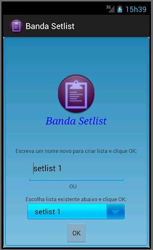 Banda Setlist