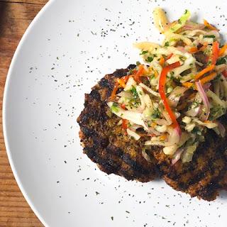 Jalapeno Chicken Burger with Jicama Slaw Recipe