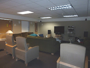 Photo: The B3 Lounge, one of two TV rooms