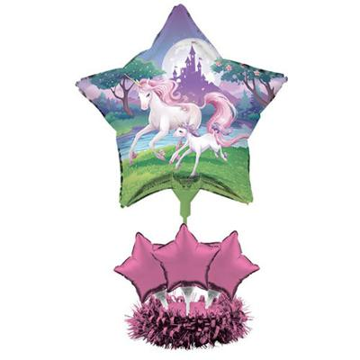 Discount Party Supplies Unicorn Fantasy Party - Centrepiece Air Filled Balloon Kit