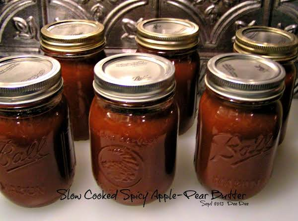 Slow Cooked Spicy Apple-pear Butter
