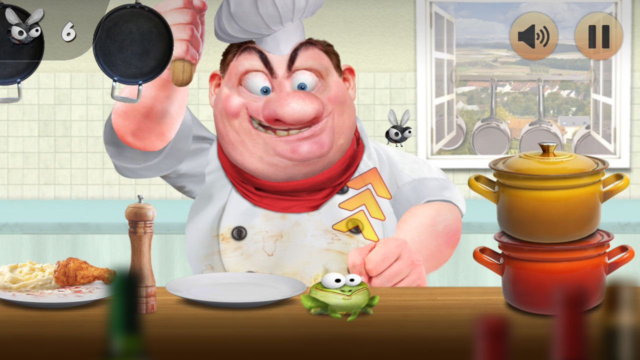 Froggy Ribbit: outrun the chef- screenshot