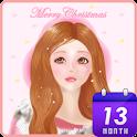 앤일러스트 (크리스마스 소녀) 카카오톡 테마 icon