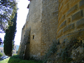 Photo: A view of the chateau's fortified walls.