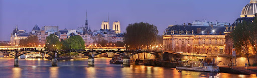paris.jpg - A wonderful evening capture of Pont des Arts, the pedestrian bridge over the River Seine in Paris.